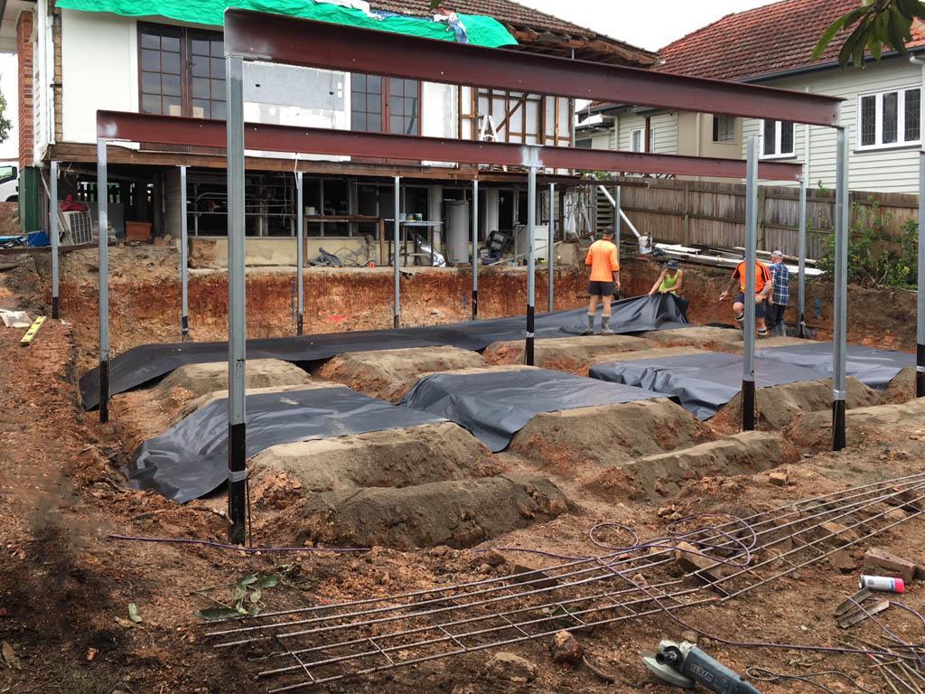 Deck Extensions In Progress - Bishop Construction